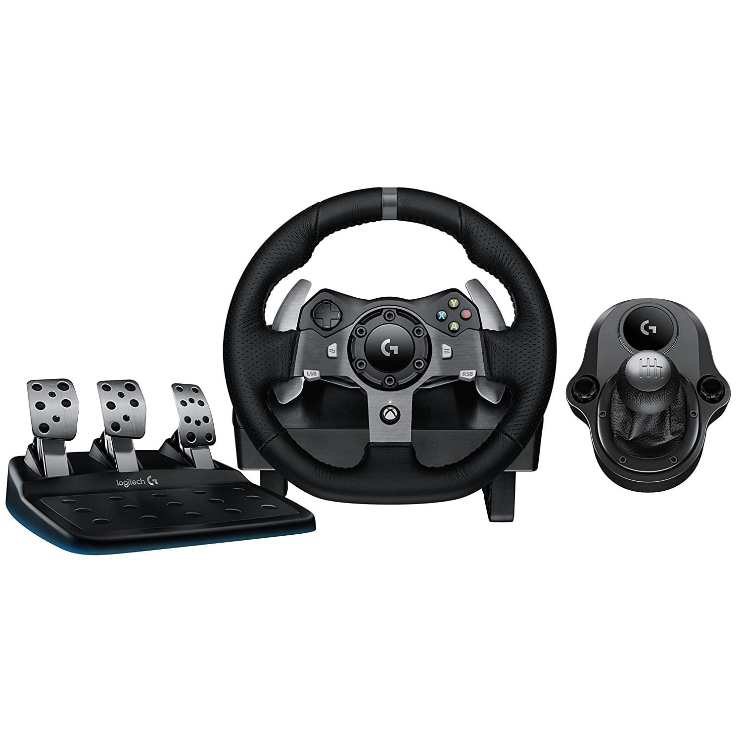Logitech G920 [PC,,Xbox] Driving Force Racing Wheel + Pedals + G-Force Shifter Bundle - $229.93 + Free Shipping