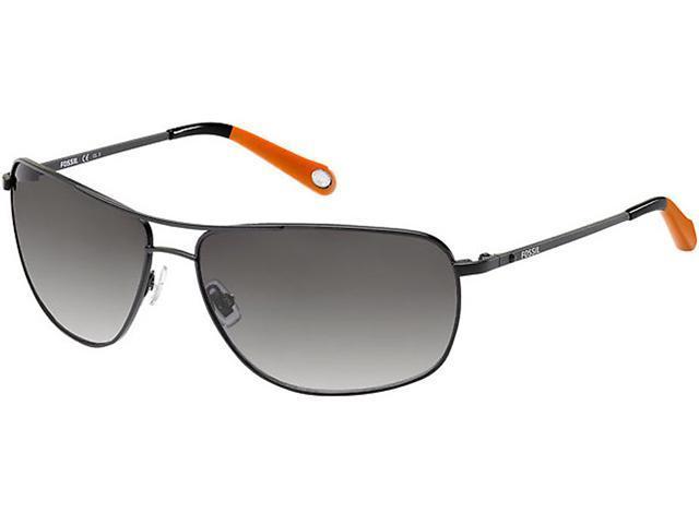 7dbd8ff4c89c Fossil Men's Matte Black Metal Navigator Sunglasses $19.99 + Free Shipping
