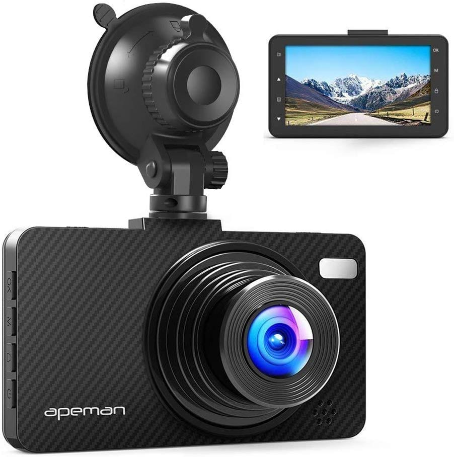APEMAN Dash Cam FHD 1080P DVR Recorder, Night Vision, G-Sensor, WDR, Loop Recording, Parking Monitor $26.79 + Free Shipping