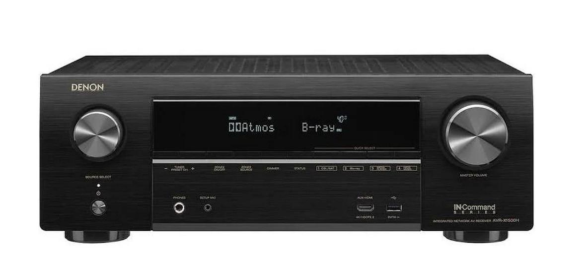 Denon IN-Command Series AVR-X1500H 7.2 Channel AV Network Receiver – Black - Final Price $306 AC + FS