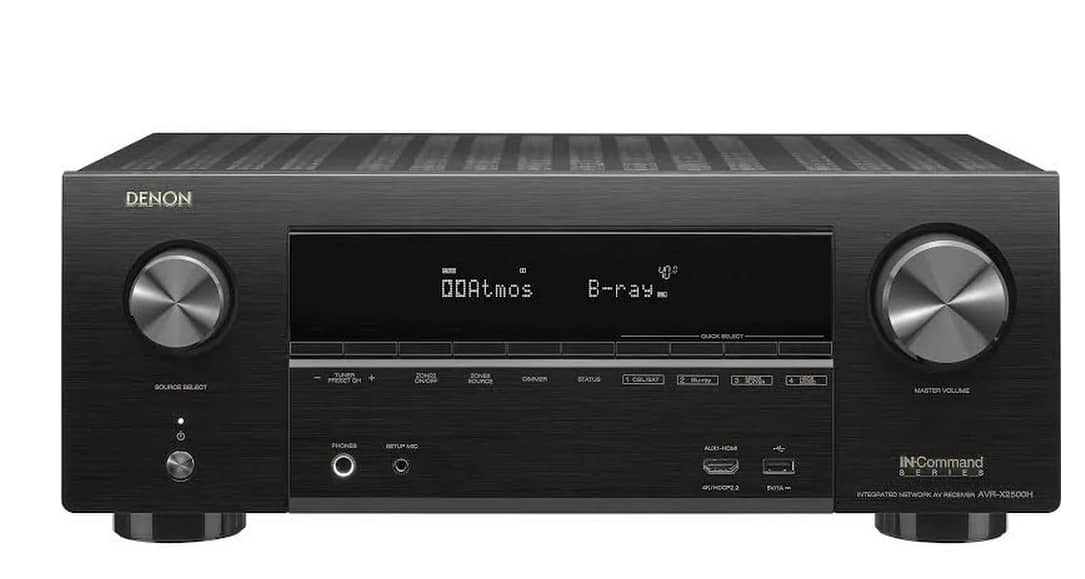 Denon IN-Command Series AVR-X2500H 7.2 Channel AV Network Receiver – Black $360 AC + FS