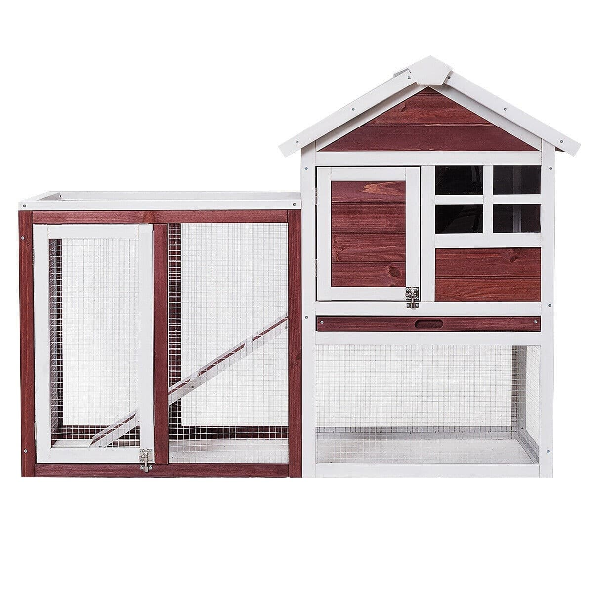 Wooden Rabbit Hutch Poultry Cage - $110.95 + Free Shipping ***DJ3 Posted