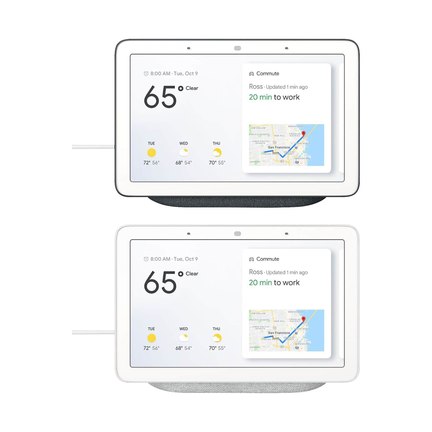 Google Home Hub - Smart Home Controller with Google Assistant Charcoal or Chalk - $57.99 + Free Shipping