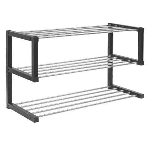 Allspace 3-Tier Shoe Storage Rack up to 12 Pairs Stackable - $32.99 + FS