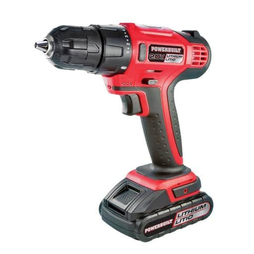 Powerbuilt 20V Lithium-Ion Cordless Drill and Bits Kit with Storage Case - $44.99 Shpped
