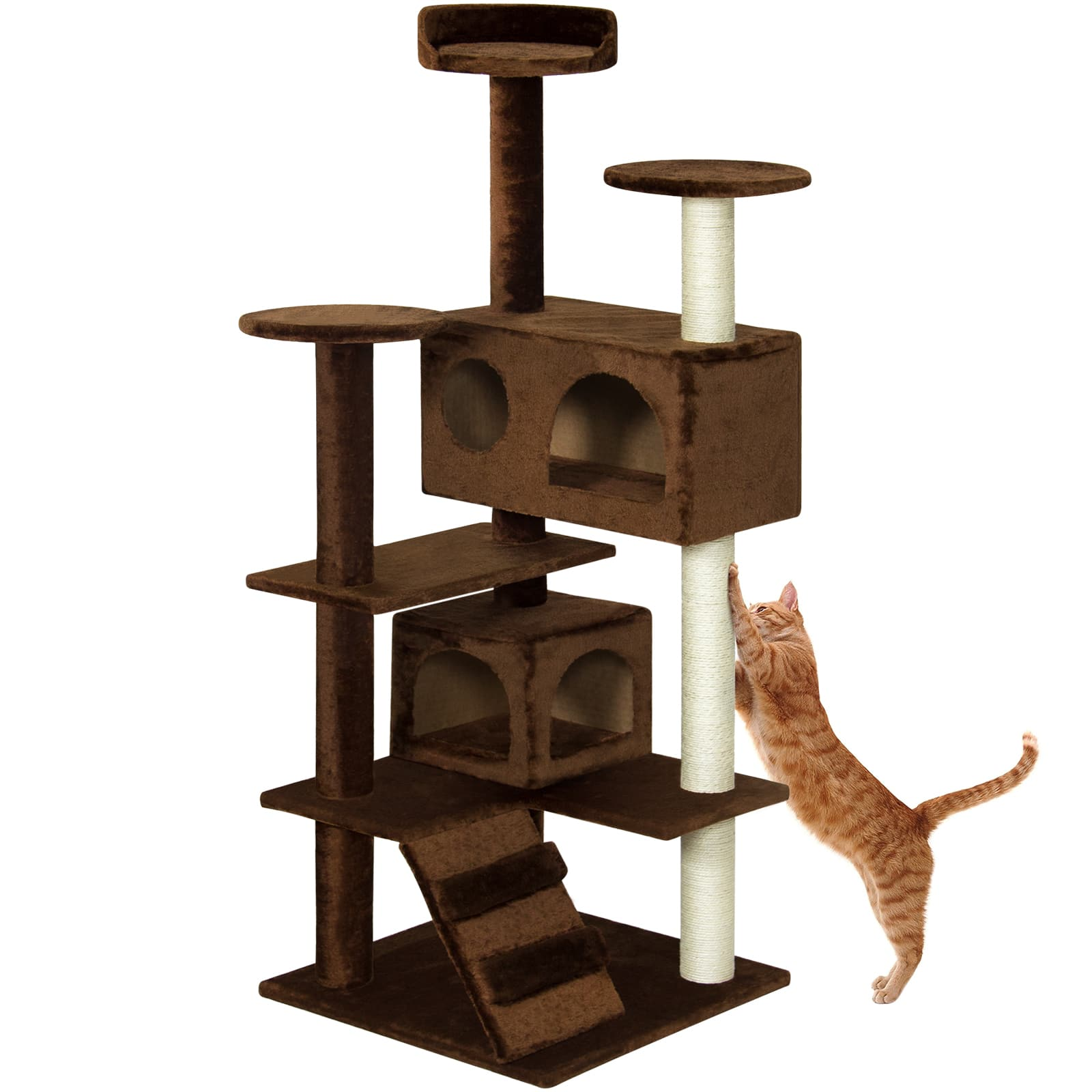 53in Multi-Level Kitten Cat Tree w/ Scratcher $44.99 AC