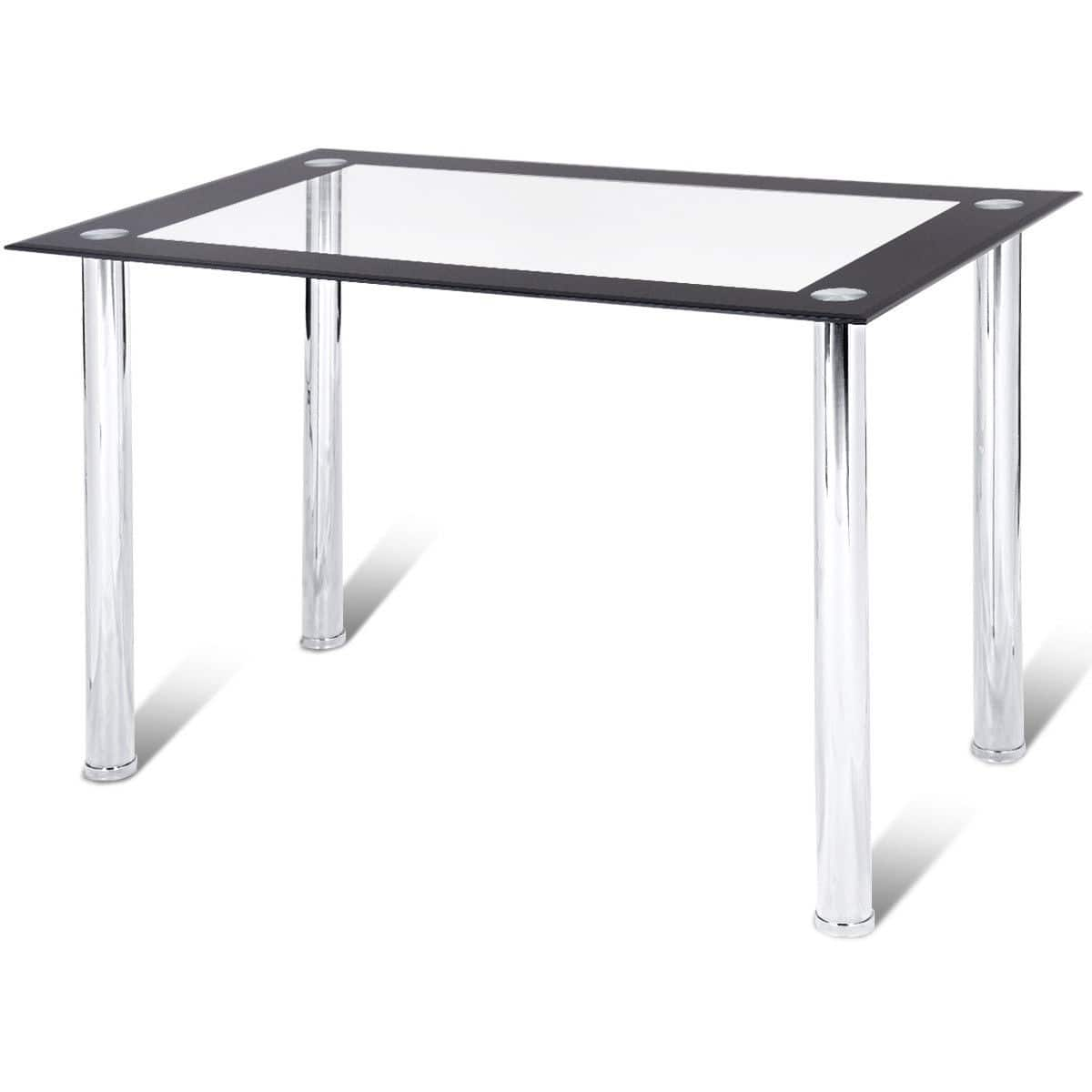 Modern Dining Kitchen Tempered Glass Table - $89.95 + Free Shipping