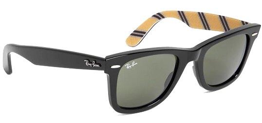 Ray-Ban Wayfarer Men's Classic Handmade Sunglasses G-15 Glass Lens - Model RB2140:  $59.00 AC + FS