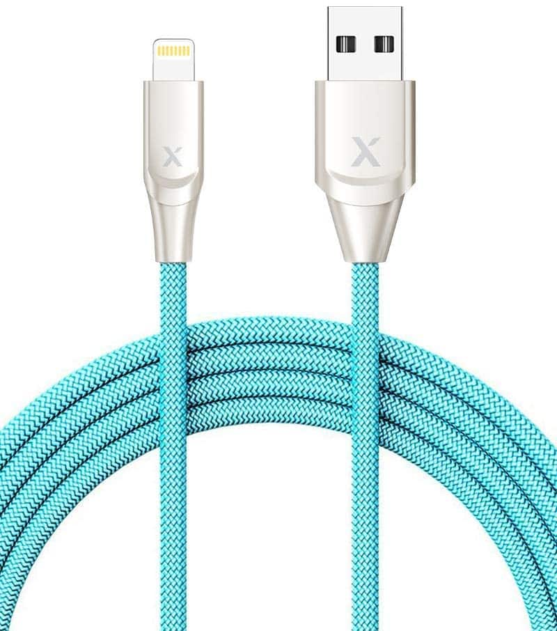 Xcentz iPhone Charger 6ft, Apple MFi Certified Lightning Cable, Braided Nylon $6.50 AC + FSSS