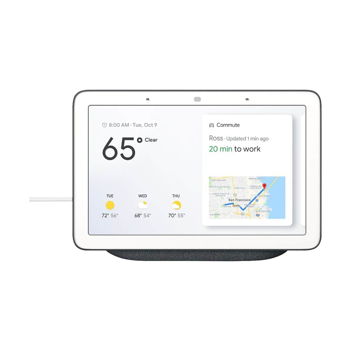 Google Home Hub - Smart Home Controller with Google Assistant Charcoal or Chalk - $58 + Free Shipping