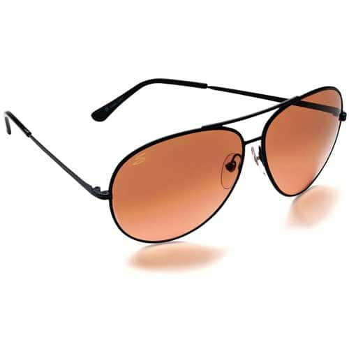 Serengeti 5222 Aviator Sunglasses (Large, Matte Black Frame) :  $68.73 AC + FS