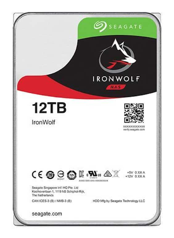 Seagate Ironwolf 12tb NAS HDD : $297.49 AC + FS