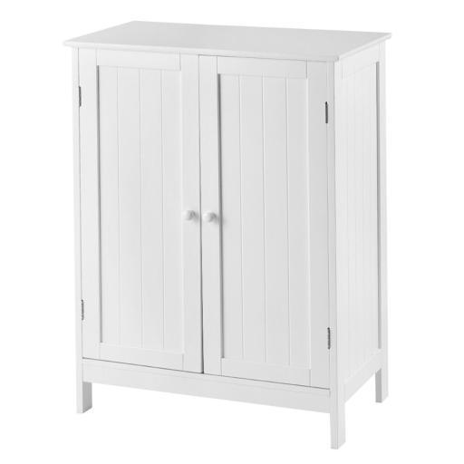 Bathroom Floor Storage Double Door Cupboard Cabinet - $62.99