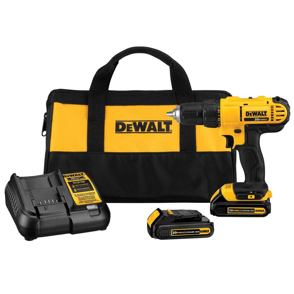 DeWalt 20V MAX Cordless Lithium-Ion 1/2 in. Compact Drill Driver Kit (Refurbished):  $79.99 AC + FS