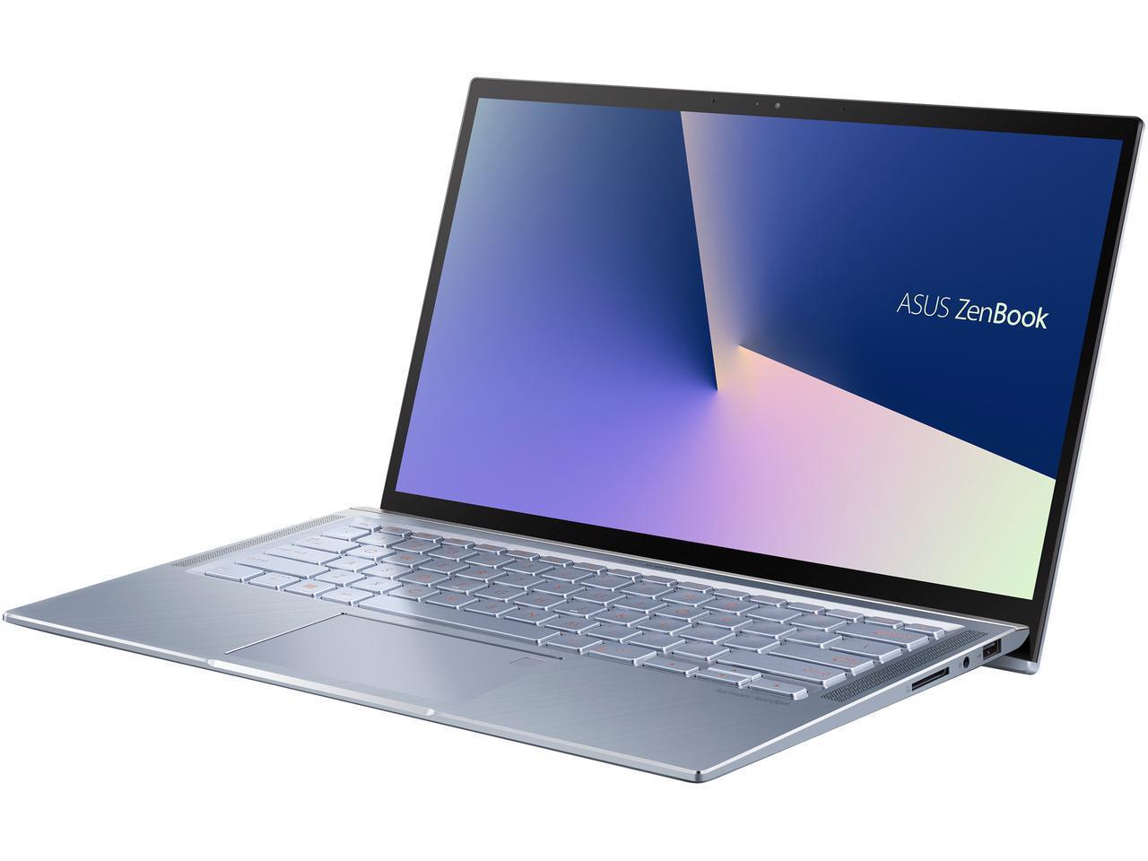 "ASUS ZenBook 14, Intel Core Whiskey Lake i5-8265U, 8 GB RAM, 256 GB NVMe PCIe SSD, NumberPad, Wi-Fi 5, Windows 10, Ultra Thin, 4-Way NanoEdge 14"" FHD, Silver Blue $679.97"