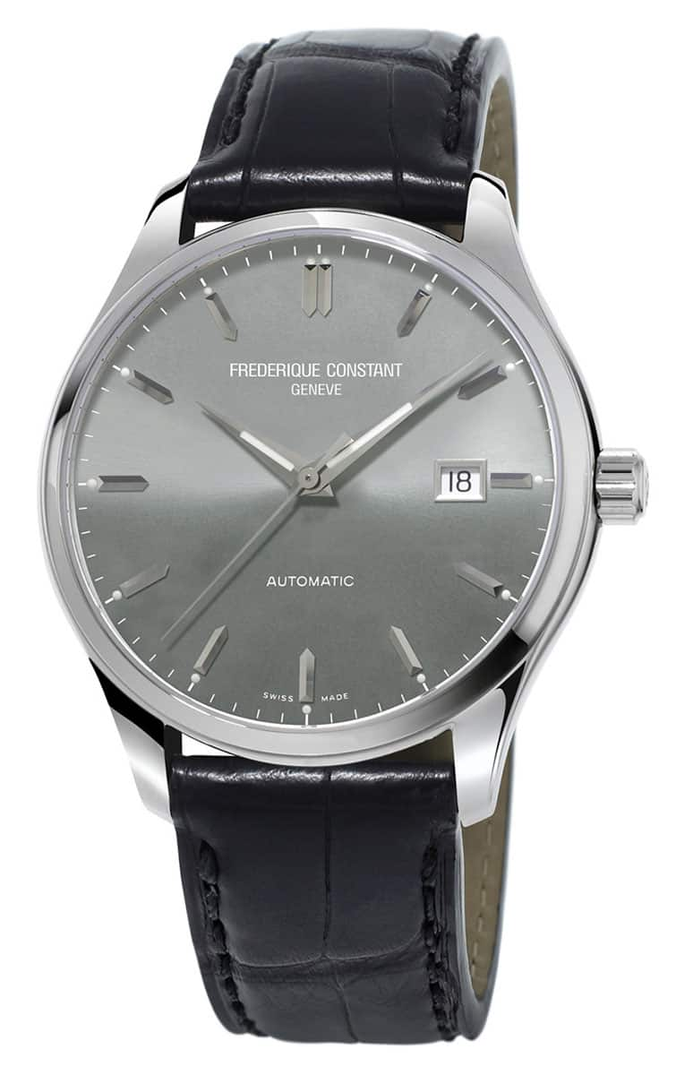 Frederique Constant Grey Dial Leather E-Strap Men's Watch FC-303LGS5B6 $345 + FS