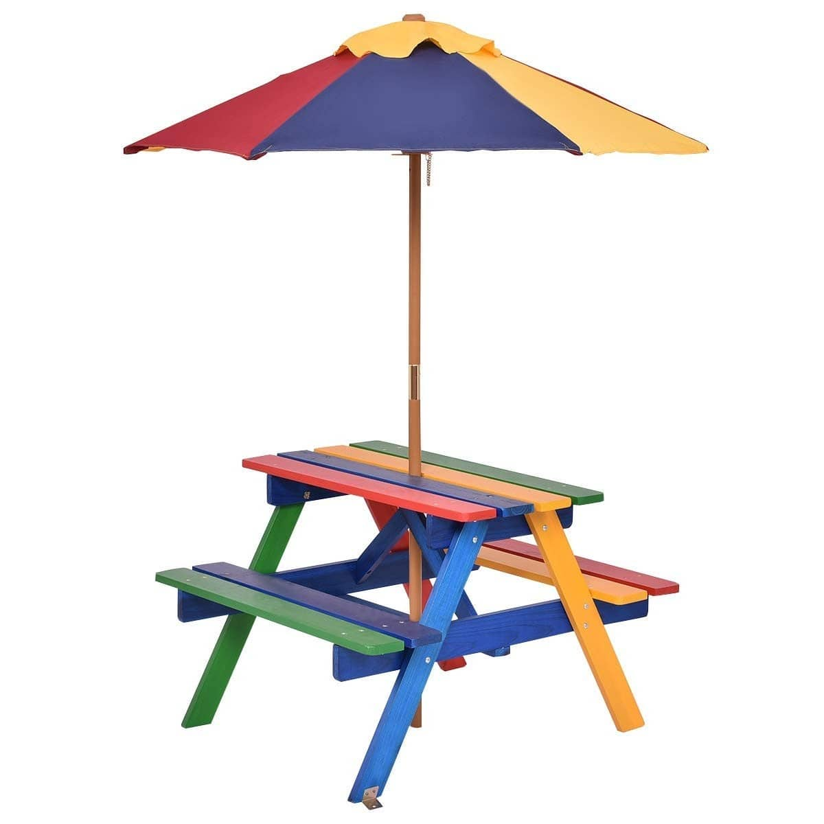 4 Seat Kids Picnic Folding Garden Umbrella Table - $54.95 + Free Shipping