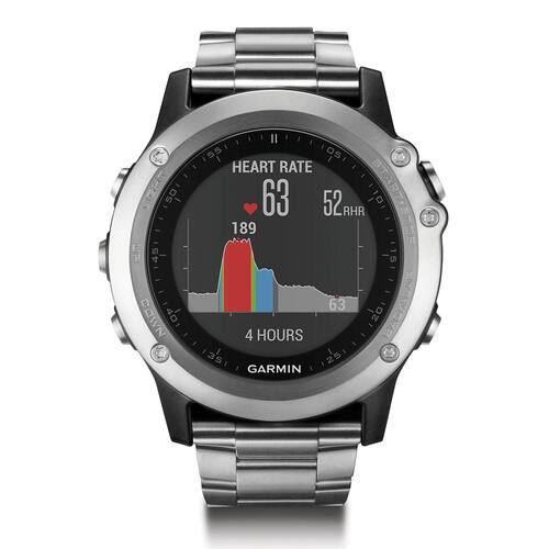 Garmin Fenix 3 HR GPS Watch with Titanium and Sport Bands