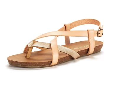 DREAM PAIRS Women's Bold Slingback Flat Sandals: Starting From $8.39 + Free Shipping