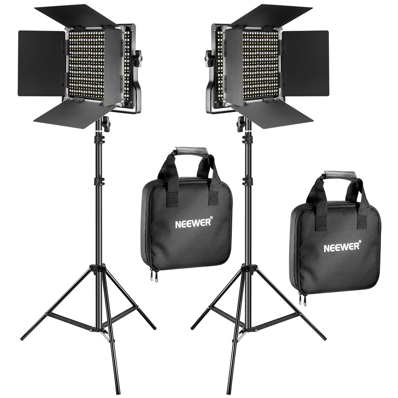 Neewer 660 LED Bi-Color Video Lights & Stands (2-Pack) - $104.49 AC + FSSS