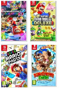 Switch Games: Mario Kart 8 Deluxe $42.45 ; Super Mario Party $41.65; New Super Mario Bros U Deluxe $41.65 & More + Free Shipping