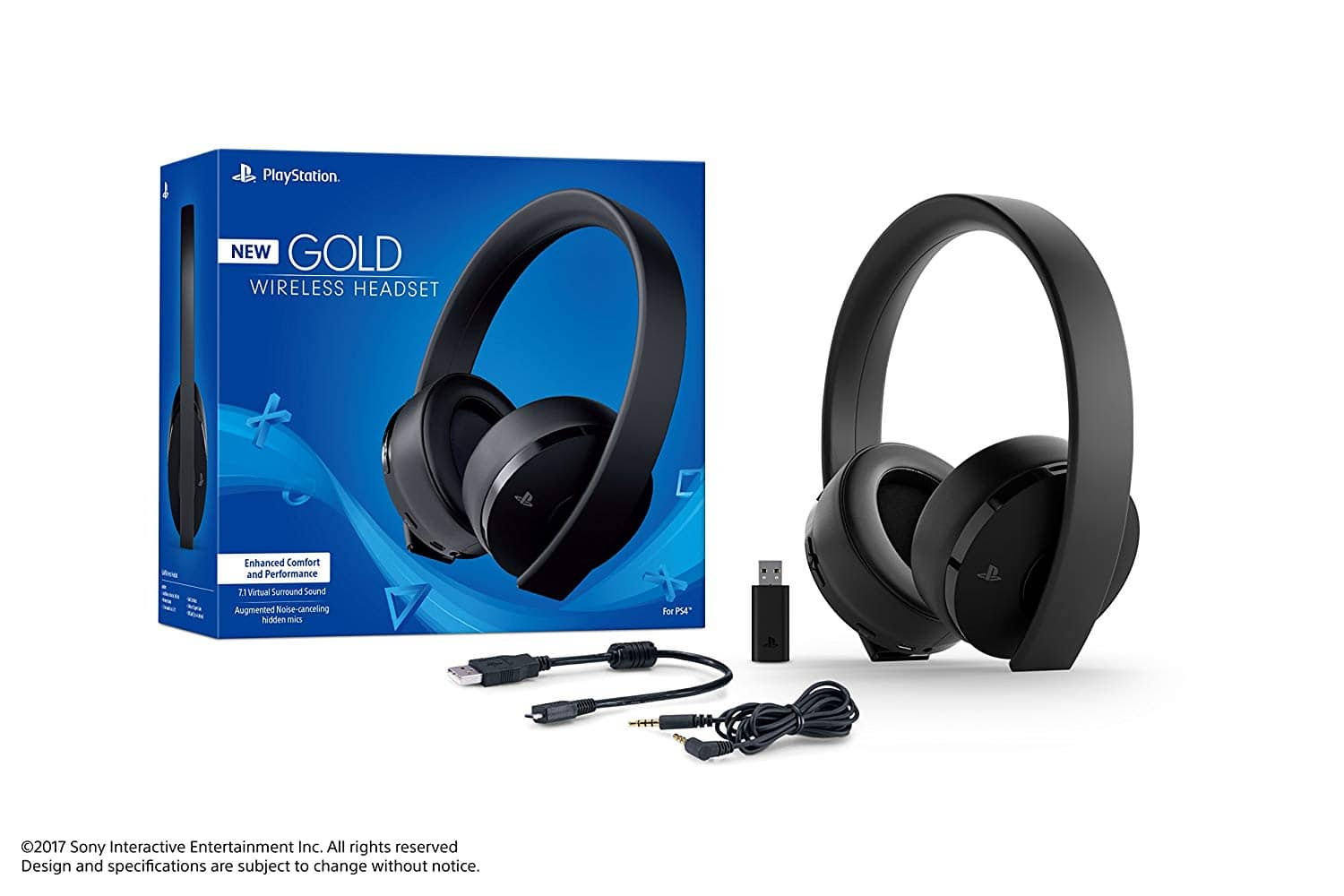 Sony PlayStation Gold Wireless Gaming Headset 7.1 Surround Sound PS4 - $59.45 + Free Shipping