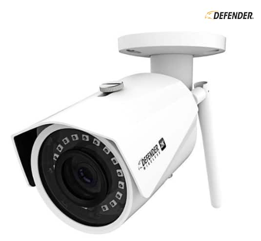 Defender 2K (4MP) Resolution Standalone Wireless Wide Angle, Night Vision IP Camera, IP67 Weather, Built-in 16GB SD Card $49.99