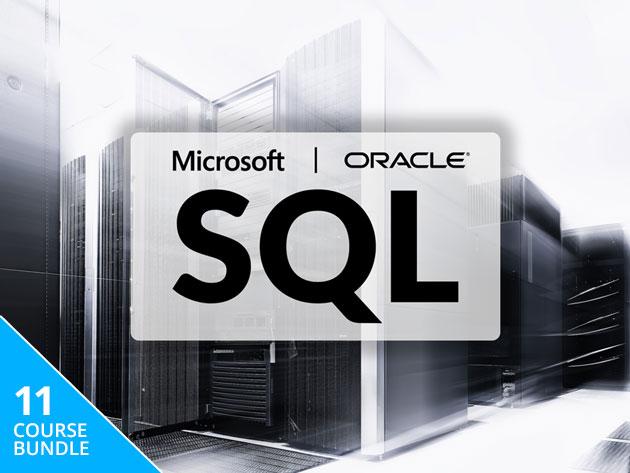 The Complete Microsoft & Oracle SQL Certification Bundle (Lifetime Access) $9.75