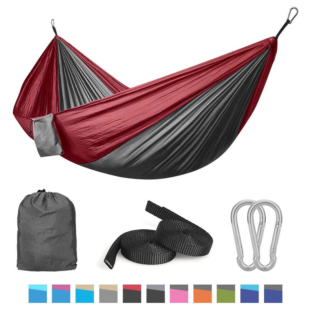 QF Camping Hammock w/ Nylon Straps & Steel Carabiners - $9.98 + FS