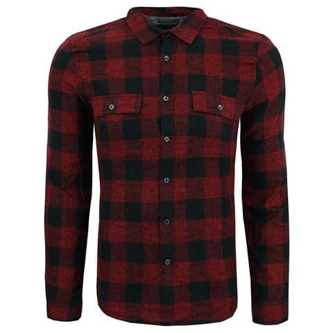 Kenneth Cole New York Men's Buffalo Check L/S Flannel Shirt - $12.75 + Free Shipping