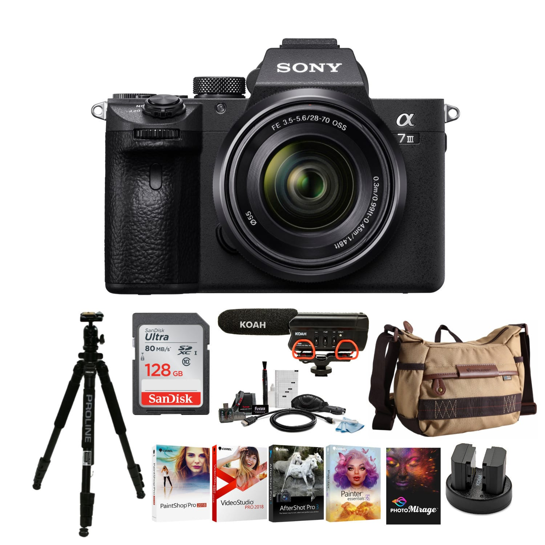 Sony Alpha a7iii Mirrorless Digital Camera with Accessory Bundle- $1798, w/ 28-70mm Lens Accessory Bundle- $1998 + FS