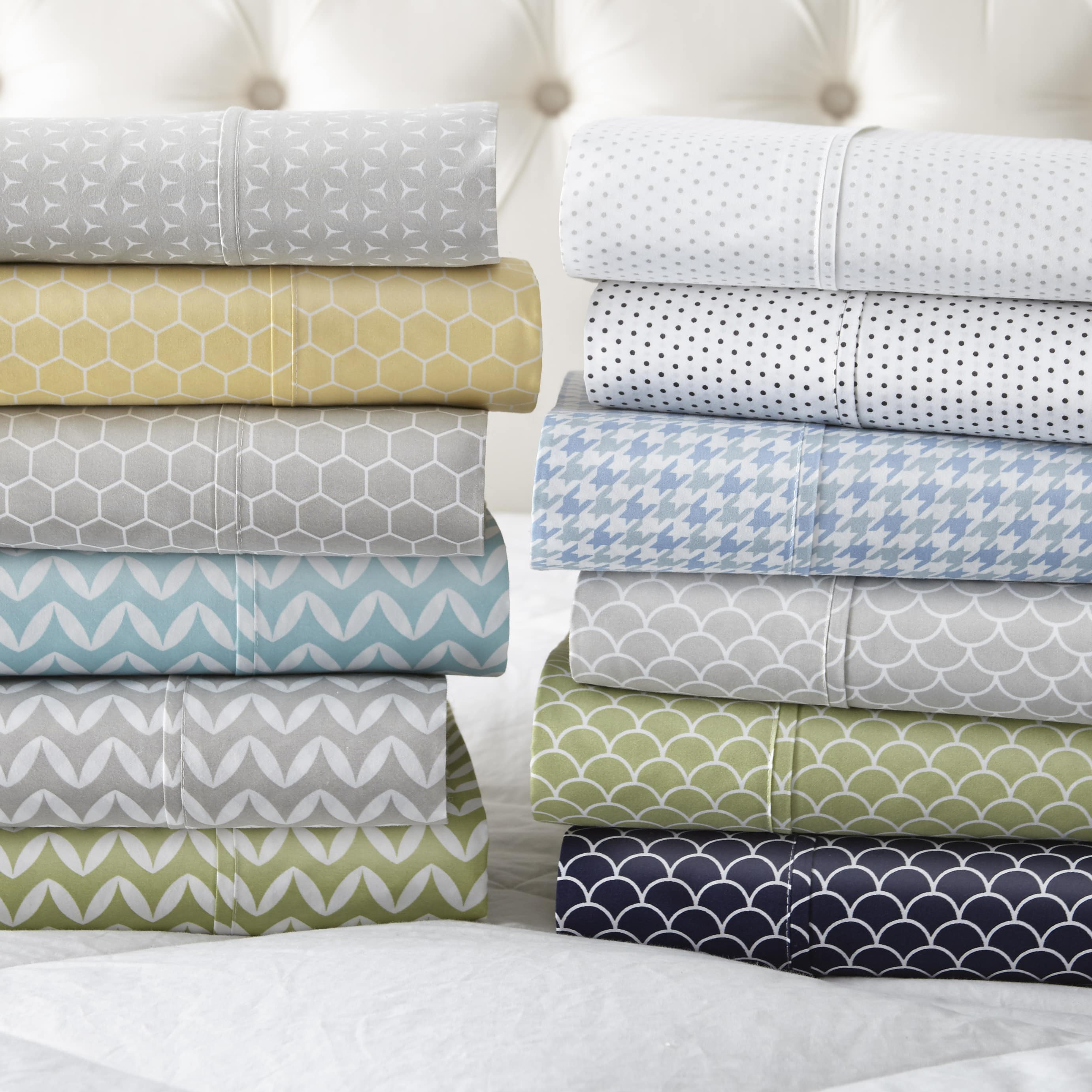 Linens & Hutch Patterned 4 Piece Sheet Sets: Starting at $20.66 + FS
