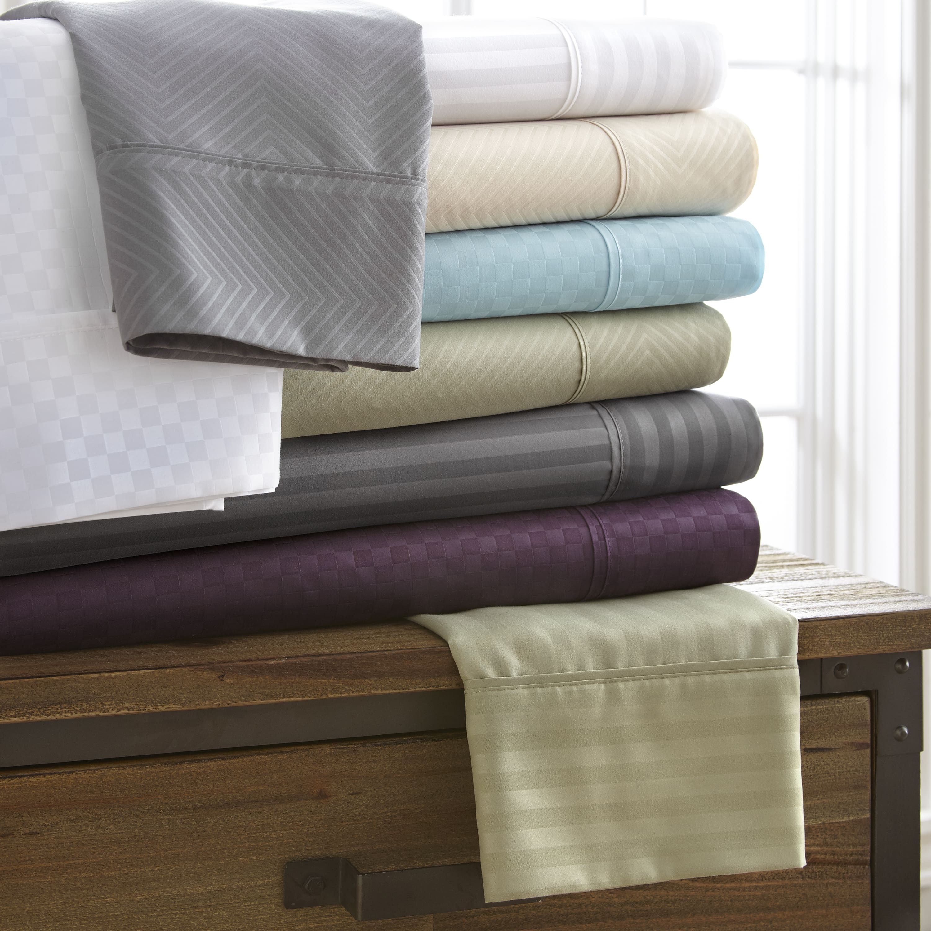 Linens and Hutch Embossed 4 Piece Sheet Sets: Starting at $20.79 + FS