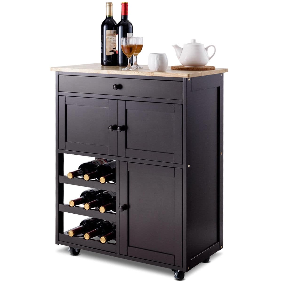 Costway Modern Rolling Storage Kitchen Cart with Drawer - $84.95 + Free Shipping