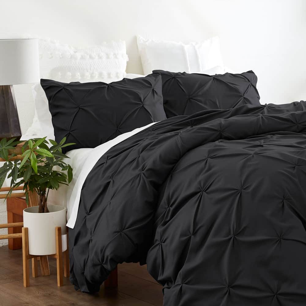 Linens & Hutch Pinch Pleat 3-Piece Duvet Cover Set: Starting at $25.07 + FS