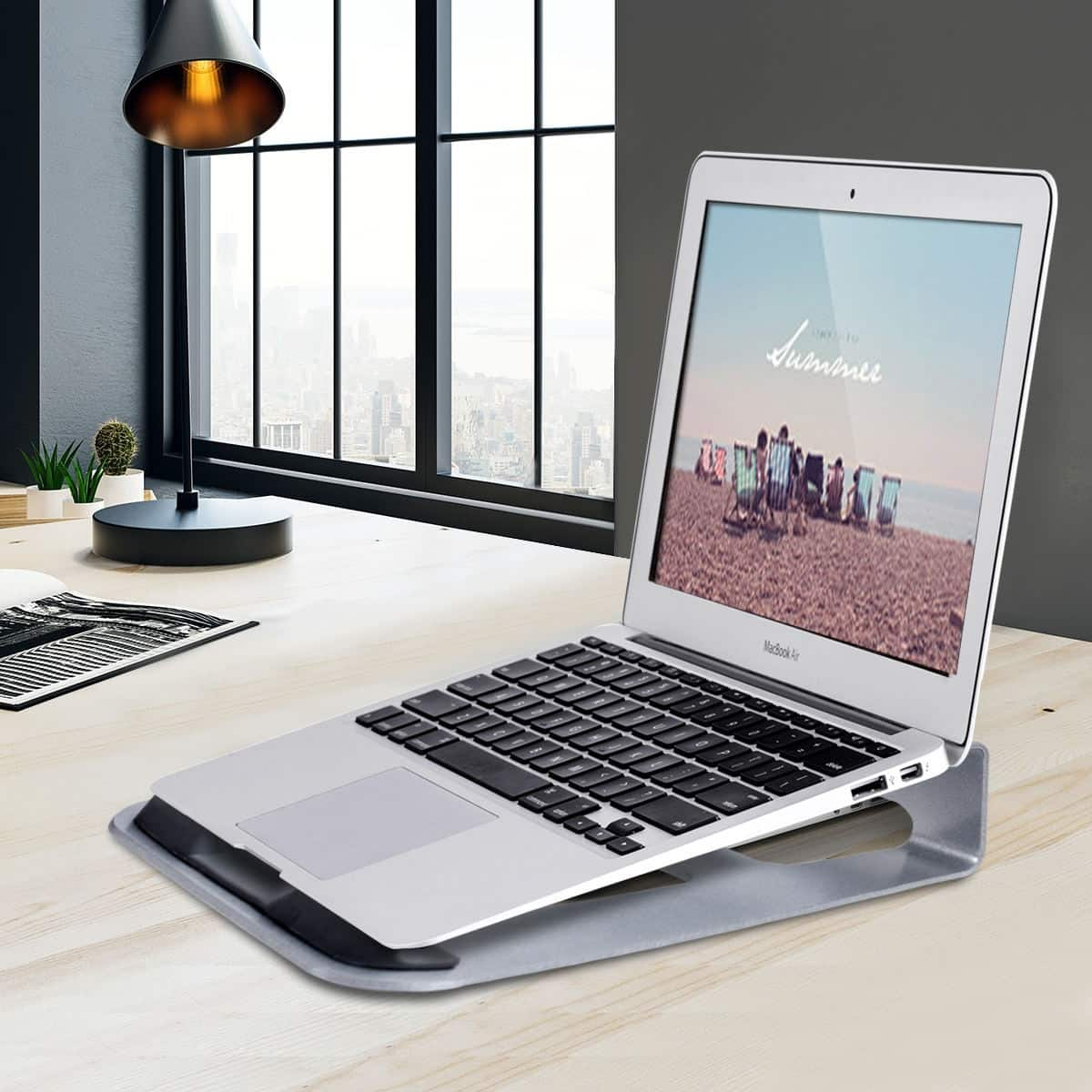 "Costway Lightweight Aluminum Desk Holder 11""~15.5"" Laptop Stand - $4.95 + Free Shipping"