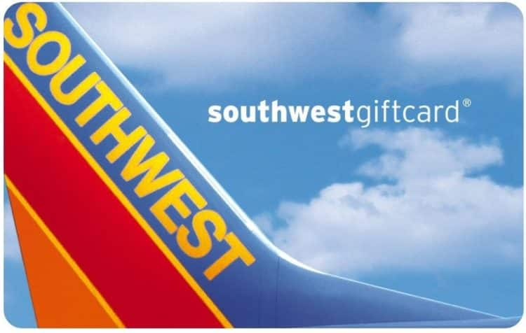 $100 Southwest Airlines Gift Card for $90 (new users only)