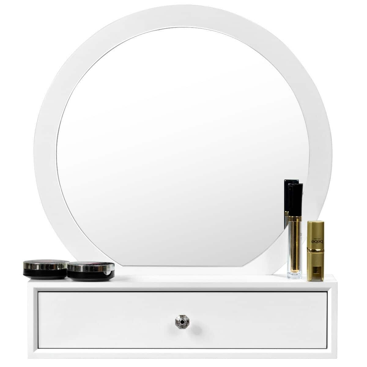 Costway Makeup Dressing Wall Mounted Vanity Mirror with 2 Drawer - $55 + Free Shipping