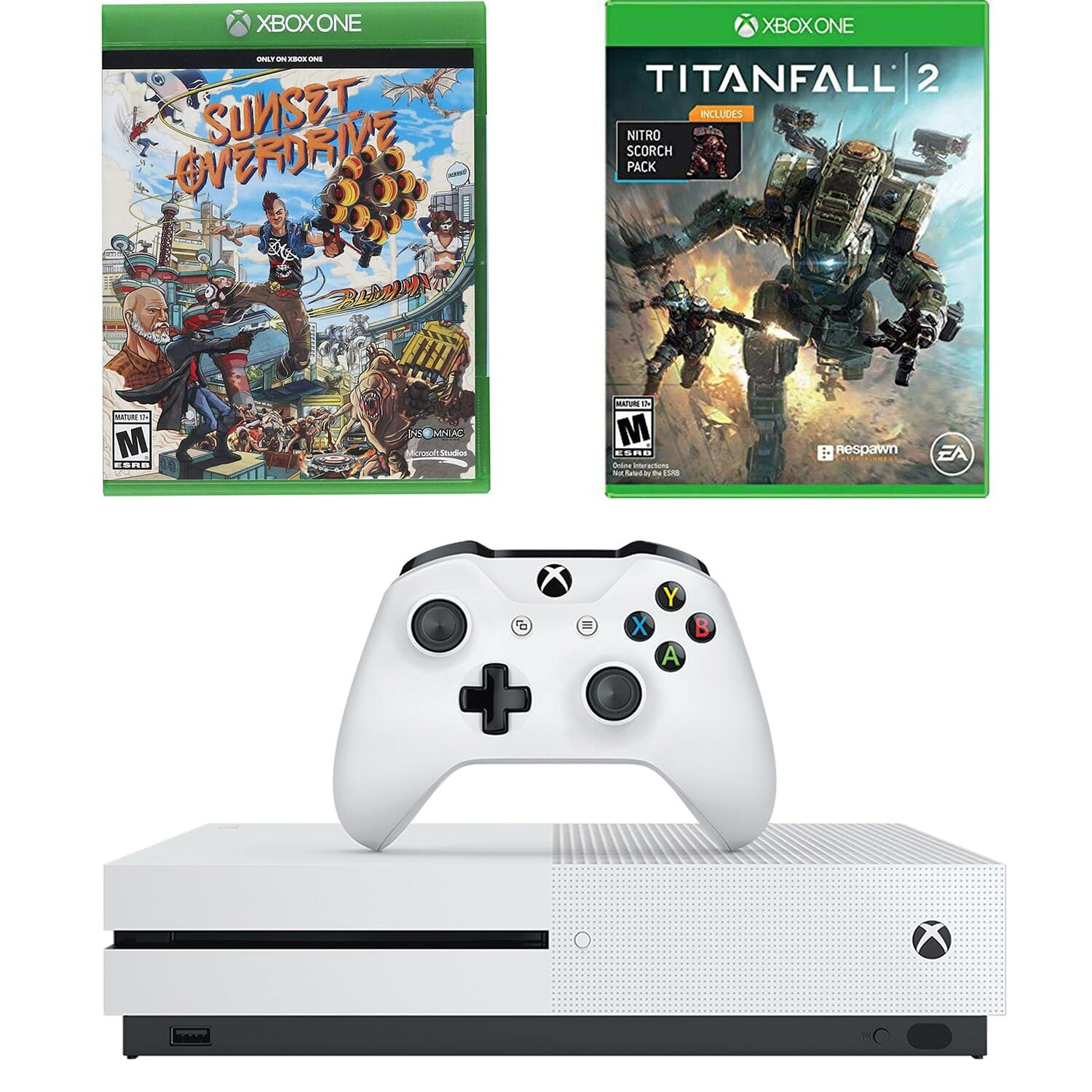 Xbox One S 1TB Console Titanfall 2 & Sunset Overdrive Bundle - $179.99 + Free Shipping