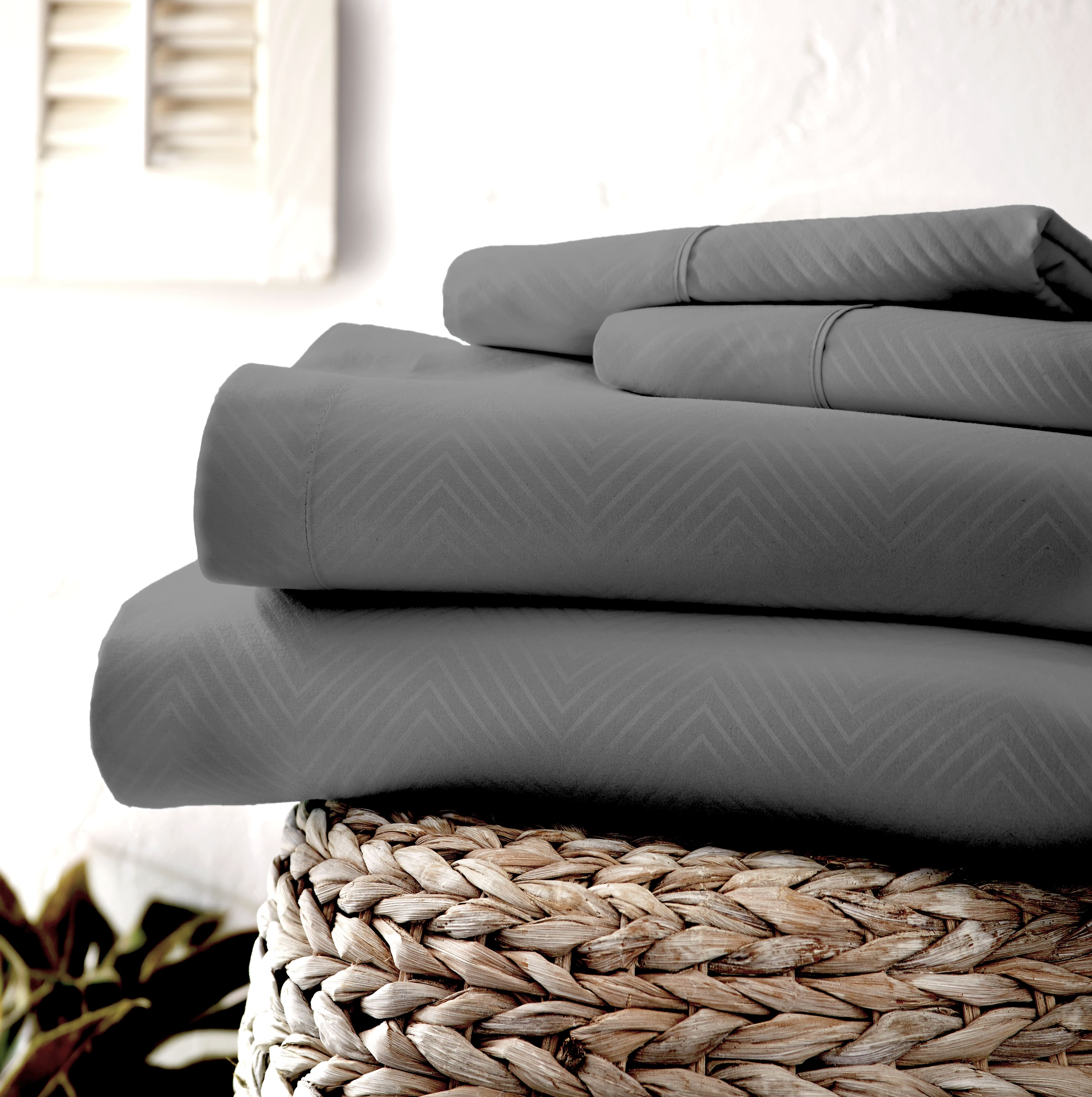 Linens & Hutch Ultra Soft Embossed 4 Piece Sheet Set: Starting at $19.60 + Free Shipping!