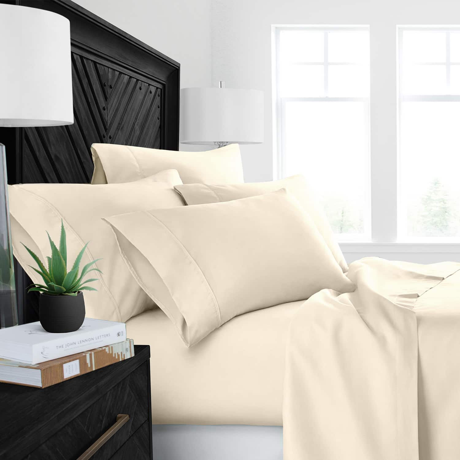 Linens & Hutch Aloe Infused Luxury 4 Piece Sheet Set (Available in 11 Colors & 5 Sizes): Starting at $20.79