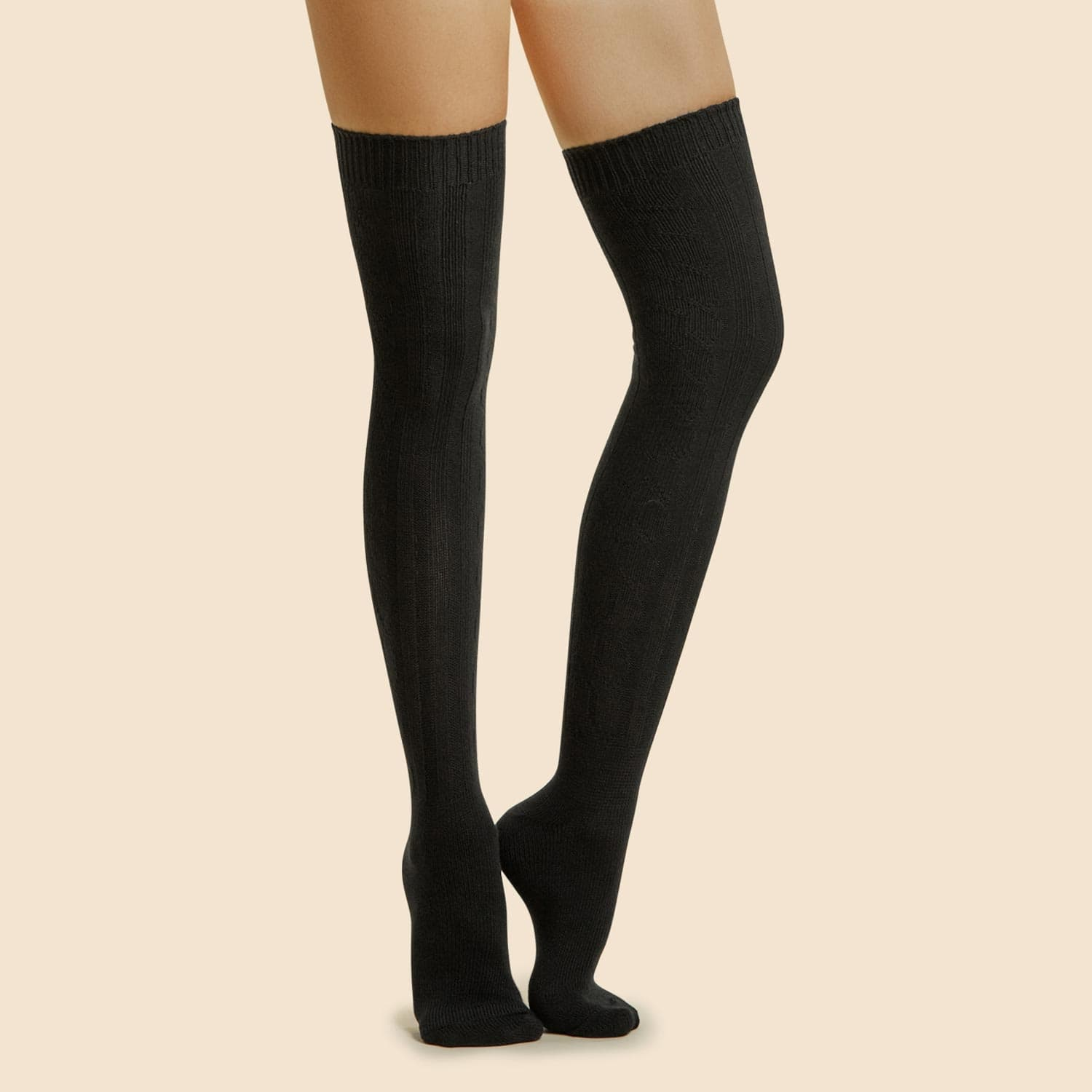 3 Pairs Women's Cable Over The Knees Socks - $11 + Free Shipping