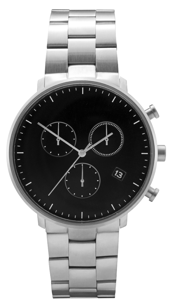Leonard and Church: Bleeker Chronograph Timepiece set with Sapphire Crystal Lens & Stainless Steel Bracelet for $70.88 + Free Shipping