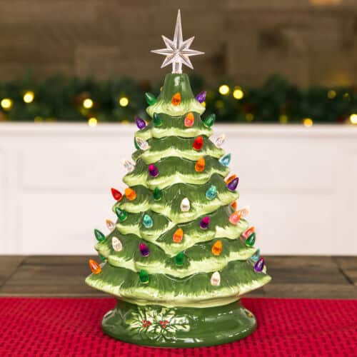 """BCP 15"""" Pre-Lit Hand-Painted Ceramic Tabletop Christmas Tree w/ 64 Lights - $35 + Free Shipping (eBay Daily Deal)"""