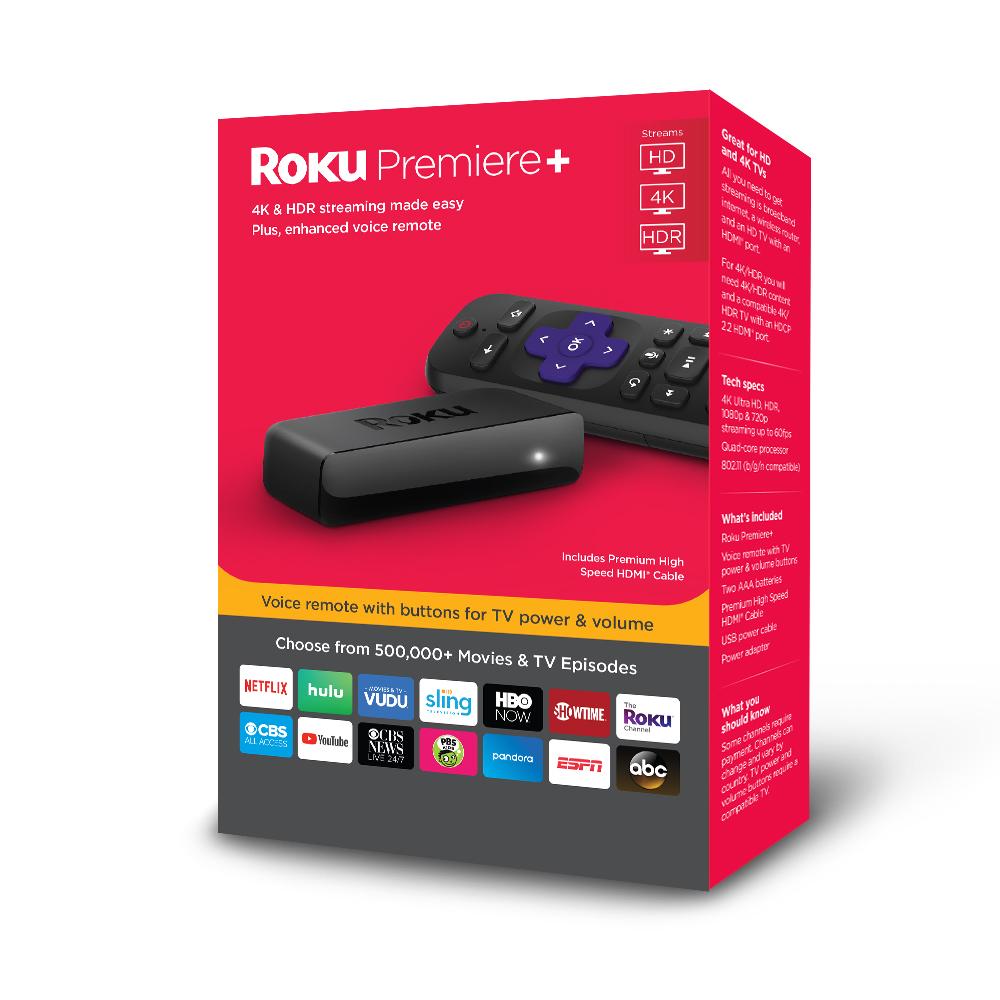 Roku Premiere+ 4K HDR Streaming Player $29 + Free Store Pickup