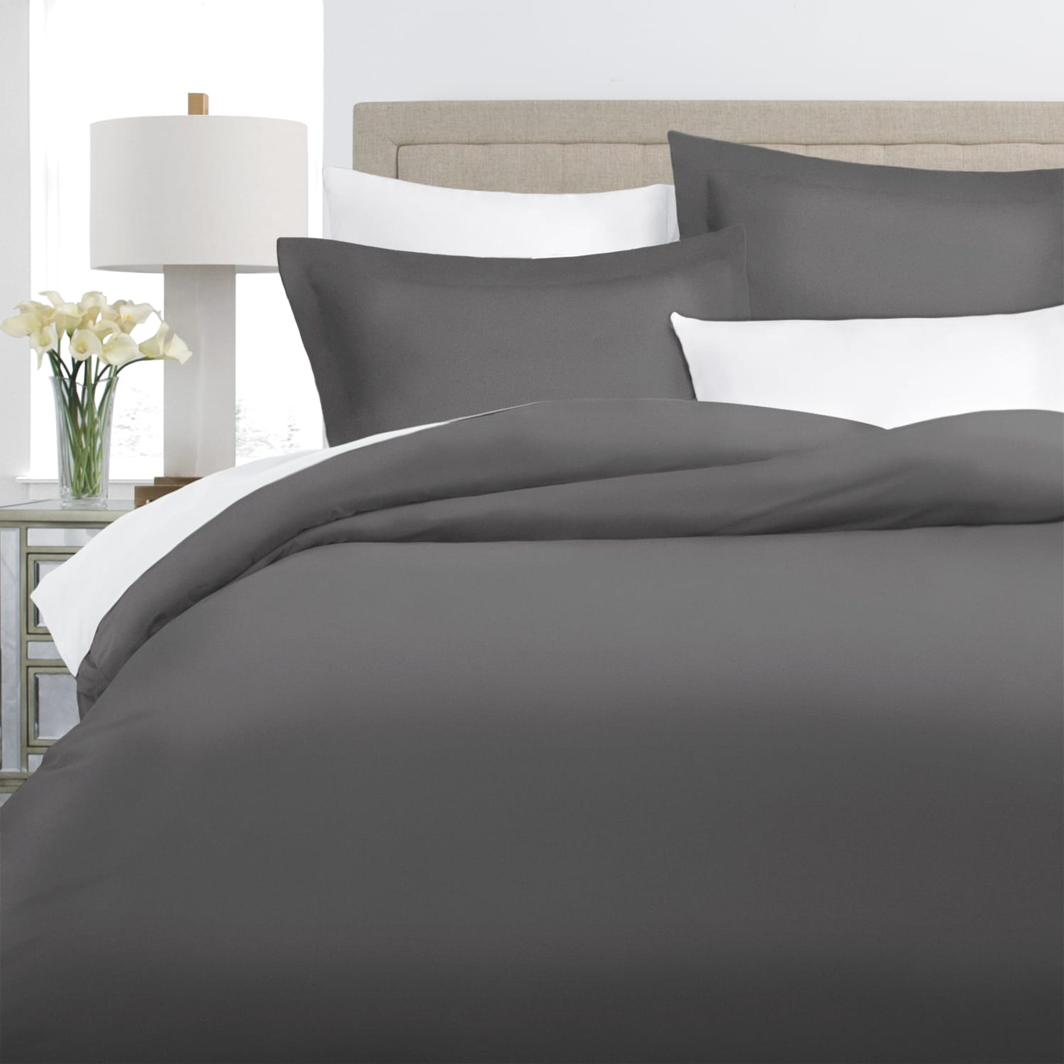 200TC Cotton Duvet Cover Set (Available in 10 Colors & 3 Sizes): Starting at $26 + Free Shipping