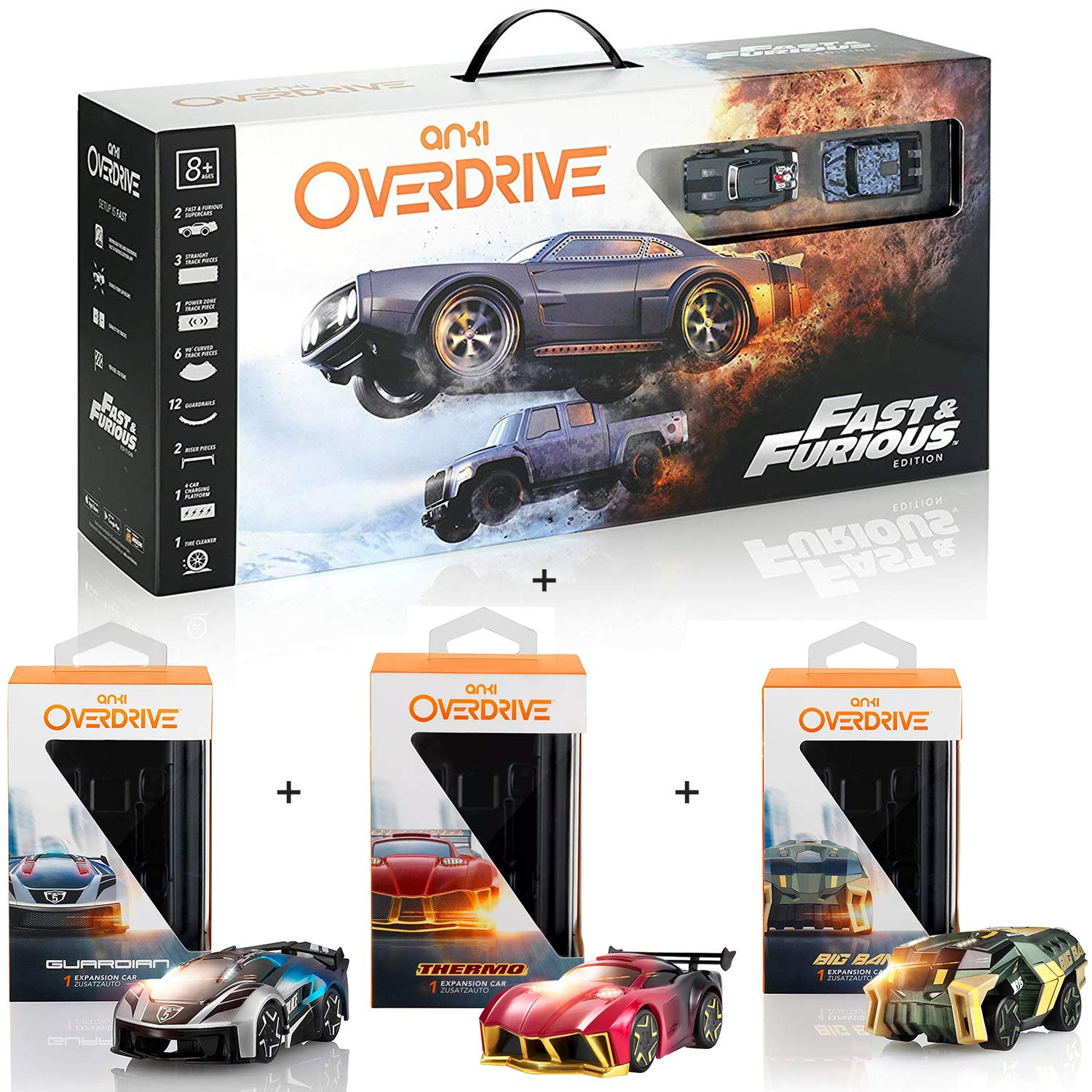 Anki Overdrive Fast & Furious Edition + Big Bang, Guardian, Thermo Expansion Cars - $89.96 + Free Shipping