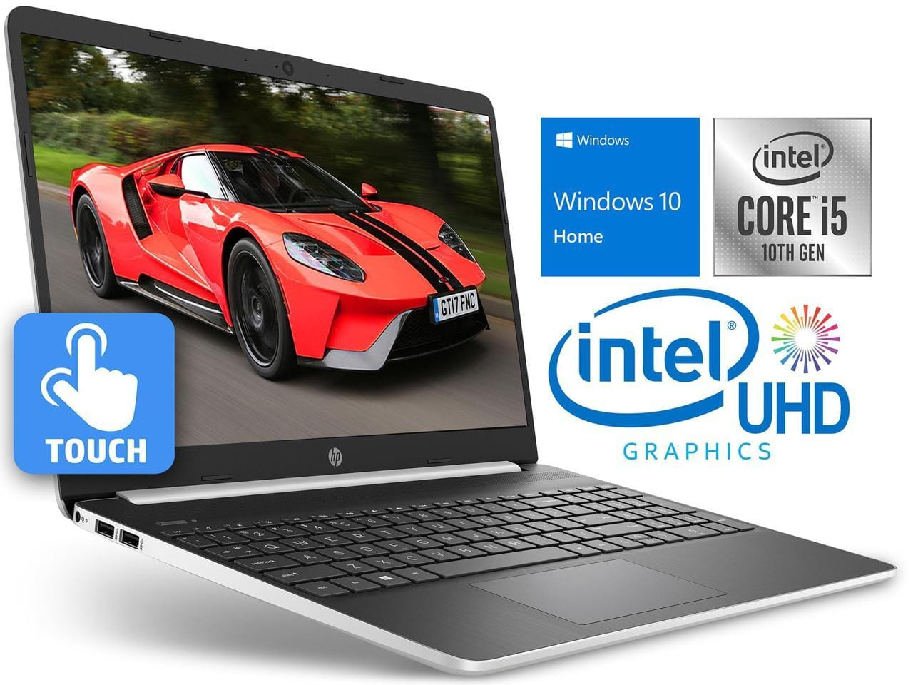 "HP 15 Notebook, 15.6"" HD Touch Display, i5-1035G4 8GB 128GB SSD Win 10 - $419.99 + FS"