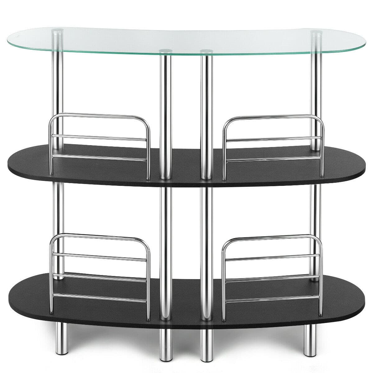 3-tier Bar Cabinets Table with Tempered GlassTop -$115.95 + Free Shipping