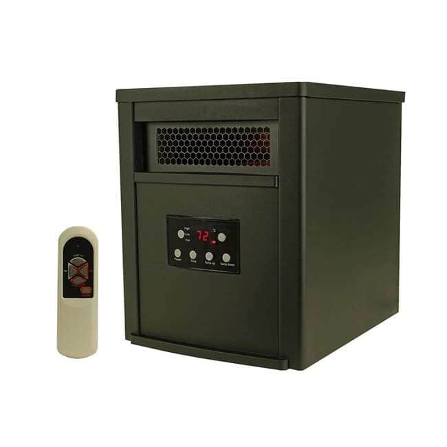 LifeSmart 6 Element 1500W Portable Electric Infrared Room Space Heater (Black) for $59.99 + FS